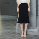 skirt Summer 2020 155/64A 160/68A 165/72A 170/76A Middle-skirt commute Natural waist Ruffle Skirt Solid color 25-29 years old More than 95% Chiffon Vivian / Huilan polyester fiber Lotus leaf edge lady Polyester 100% Same model in shopping mall (sold online and offline)
