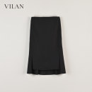 skirt Autumn 2020 It's dark at night Mid length dress sexy Natural waist skirt Solid color Type H 25-29 years old More than 95% other Vivian / Huilan polyester fiber zipper Polyester 100% Same model in shopping mall (sold online and offline)