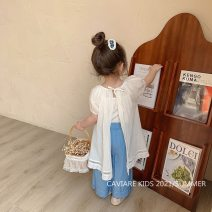 Dress white female Other / other Cotton 95% other 5% spring and autumn Korean version Broken flowers cotton A-line skirt 12 months, 3 years, 6 years, 18 months, 2 years, 5 years, 4 years Chinese Mainland