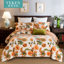 Bedding Set / four piece set / multi piece set The fragrance of lotus Forty Veken/Vico 4 pieces Geometric patterns Other /other 133X76 1.5m (5 feet) bed 1.8m (6 feet) bed other cotton other Qualified products Court style other Reactive printing V8T4-LG48.