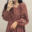 Dress Spring 2020 Rose powder Average size longuette singleton  Long sleeves Decor