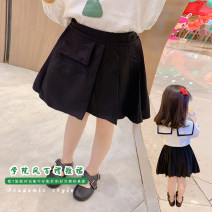 skirt Black skirt Other / other female Cotton 90% other 10% spring and autumn skirt Korean version other Pleats other other