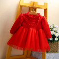 Dress 1988 red skirt-b82090 red skirt a11 female Other / other Other 100% winter princess Long sleeves Solid color cotton A-line skirt 12 months, 9 months, 18 months, 2 years, 3 years