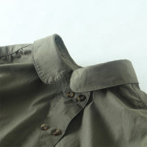 shirt Turmeric, army green, Khaki One size fits all, it is recommended to be within 110-150 Jin Spring 2020 cotton 96% and above Long sleeves commute Regular Doll Collar Single row multi button routine Solid color 25-29 years old Straight cylinder literature A3889 Button