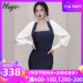 Dress / evening wear Weddings, adulthood parties, company annual meetings, daily appointments XS S M L Picture color fashion Short skirt Elastic waist Spring 2021 Self cultivation spandex 26-35 years old DH7365 Long sleeves Solid color Hego bishop sleeve Pure e-commerce (online only)