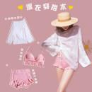 Bikini Xia Hai Pink M,L,XL boxer Steel strap breast pad Nylon, spandex, others