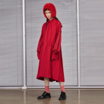 Dress Winter 2020 S,M,L Mid length dress singleton  Long sleeves commute other middle-waisted other Socket A-line skirt routine Others 25-29 years old Type A Semicircle literature other other
