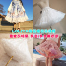 skirt Summer 2021 40CM,55CM,60CM,45CM White waist drawstring version, black waist ribbon version, white waist ribbon version, pastel, khaki color Sweet Natural waist Fluffy skirt Solid color Type A Podium summary other Other / other Gauze, lace, Auricularia auricula Lolita