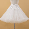 skirt Summer 2020 Average size white Middle-skirt Versatile Natural waist Fluffy skirt Solid color Type A A44 Other / other Gauze
