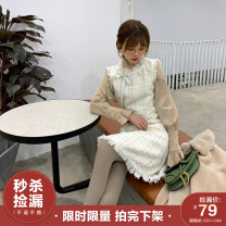 Fashion suit Winter of 2018 XS,S,M White shirt, light camel shirt, black gold vest skirt, platinum vest skirt 18-25 years old Miss Chipmunk CL5062CL5061