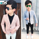Suit / Blazer Pink, light blue, light blue suit + black casual pants, pink suit + white casual pants 100cm,110cm,120cm,130cm,140cm,150cm Other / other male There are models in the real shooting leisure time spring and autumn Broken flowers A button routine cotton Class B