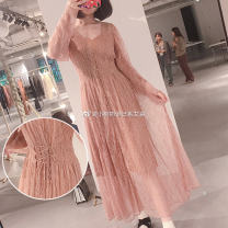 Dress Autumn of 2019 Pink SK, black sk S [YC fabric, high set version], m [YC fabric, high set version] S-LBLB-S 19416-SWFO194202