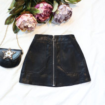 skirt 90cm,100cm,110cm,120cm,130cm Other / other female Other 100% No season skirt Korean version Solid color A-line skirt Leatherwear Class B