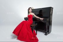 Dress / evening wear Wedding, adulthood, party, company annual meeting, performance, daily life gules Lace