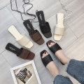 Sandals 35 36 37 38 39 Elegant black light beige White Brown Black Beige dark brown Jamie of Min PU Barefoot Flat heel Low heel (1-3cm) Summer of 2018