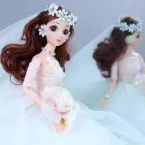 Doll / accessories 3, 4, 5, 6, 7, 8, 9, 10, 11, 12, 13, 14, 14 and above Ordinary doll Princess Barbie China The height is about 50cm (including bracket) and the skirt is about 90cm White, white + lantern version currency a doll Dream class cloth other Yes