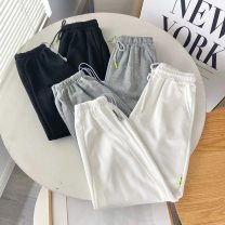 Casual pants Black, white, grey M, L Summer 2021 Ninth pants Haren pants High waist commute routine 18-24 years old 71% (inclusive) - 80% (inclusive) other belt