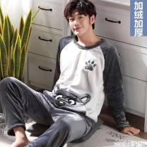 Pajamas / housewear set male Other / other M [recommendation 75-95], l [recommendation 91-120], XL [recommendation 121-140], 2XL [recommendation 141-165] other Cartoon pajamas winter other Flannel