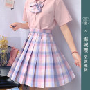 skirt Summer 2021 XS,S,M,L,XL,2XL Short skirt Sweet High waist Pleated skirt lattice Type A 18-24 years old 31% (inclusive) - 50% (inclusive) other polyester fiber solar system