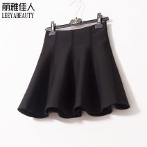 skirt Spring 2021 Short skirt commute High waist Fluffy skirt Solid color Type A 25-29 years old 91% (inclusive) - 95% (inclusive) other LEEYABEAUTY cotton Korean version 301g / m ^ 2 (including) - 350g / m ^ 2 (including)