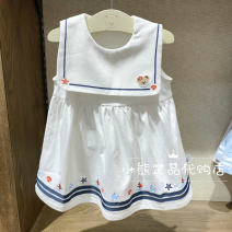 Dress ivory female pawinpaw 80cm,90cm,100cm,110cm Cotton 100% summer princess Skirt / vest Cartoon animation cotton A-line skirt 2 years old, 3 years old, 4 years old, 5 years old, 6 years old, 7 years old