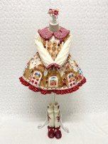 Dress Autumn 2020 Dress, undershirt 80,90,100,110,120,130 Cartoon animation A-line skirt brocade