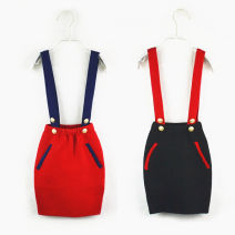 skirt The recommended height is 95cm for size 4, 100cm for size 5, 110cm for size 6, 120cm for size 8 and 130cm for size 10 Red, black Other / other female Wool 50% cotton 50% No season skirt Europe and America Solid color Strapless skirt Wool Class B