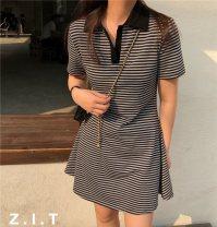 Dress Summer 2021 Black, black and white stripes, gray black stripes Average size Z.I.T Dress