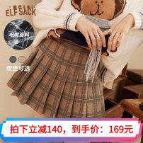 skirt Winter 2020 L,S,M Short skirt commute Natural waist A-line skirt Type A 18-24 years old 71% (inclusive) - 80% (inclusive) Elf sack / goblin's pocket polyester fiber Retro