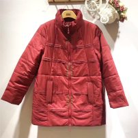 Middle aged and old women's wear Winter of 2019 gules M (160 / 84) < suitable for 90-105 kg, l (165 / 88) < suitable for 110-115 kg, XL (165 / 92) < suitable for 117-127 kg, XXL (170 / 96) < suitable for 130-140 kg, XXXL (175 / 100) < suitable for 140-155 kg ethnic style Cotton Straight cylinder J063