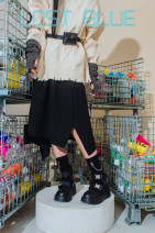 skirt Spring 2021 S,M,L black Mid length dress street Natural waist A-line skirt Type A 18-24 years old 1110-3 Asymmetry Europe and America