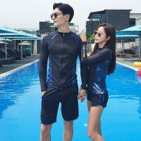 Couple swimsuit Xiaotong swimsuit M,L,XL,XXL Women's, men's, single black pants for women, single black pants for men Nylon, polyester, others currency
