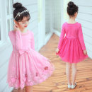 Dress Rose red, purple, red, pink, blue, pink, pink -- sz20724, purple -- sz20724, red -- sz20724, short sleeve summer -- pink, short sleeve summer -- purple, short sleeve summer -- rose red female Other / other Cotton 95% other 5% spring and autumn Korean version Long sleeves Solid color cotton