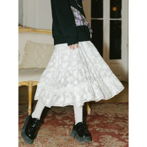 skirt Spring 2021 S,M,L Baihua, the second batch of Baihua Middle-skirt Sweet High waist Ruffle Skirt Type A 18-24 years old X095 31% (inclusive) - 50% (inclusive) Other / other cotton solar system