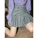 skirt Spring 2021 S,M,L Short skirt Versatile Pleated skirt other 18-24 years old X089 51% (inclusive) - 70% (inclusive) Other / other cotton