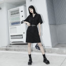 Dress Summer 2020 S,M,L Middle-skirt tailored collar raglan sleeve 18-24 years old Type H polyester fiber