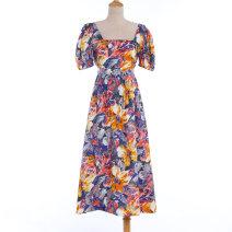 Dress Summer 2020 Decor S,M,L Mid length dress Short sleeve commute Crew neck Phoebe Hz / Phoebe Hz