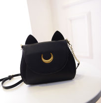 Bag Inclined shoulder bag ABS other Other / other White, black Solid color One shoulder handle with crossbar Sewing