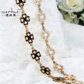 Belt / belt / chain Metal Clover gold clover Silver Oval Gold female Waist chain Versatile Single loop Middle aged youth Smooth button Geometric pattern Glossy surface 2cm alloy Bare Sequin engraving embossing chain letter lace flower Meetmei / Yu Shangmei YL146 108cm 114cm Spring 2015 no