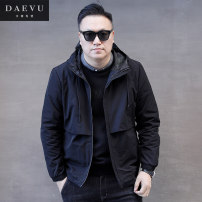 Jacket Daevu / Dayi Fashion City black routine standard Other leisure spring Polyester 100% Long sleeves Wear out Hood short Zipper placket Spring of 2019