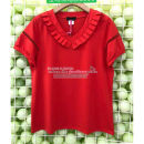 Women's large Summer 2021 Red, black Size 4 XL, size 5 XXL, size 6 XXXL, size 7 XXXXL, size 8 XXXXL, ask customer service for stock before shooting, size 9 XXXXXL T-shirt singleton  Sweet easy moderate Socket Short sleeve Solid color V-neck routine Cotton, Lycra Lycra routine