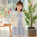 suit Other / other 120cm,130cm,140cm,150cm,160cm,170cm spring Korean version Long sleeve + skirt 3 pieces routine There are models in the real shooting Socket lattice Pure cotton (100% cotton content) Class B Cotton 95% polyurethane elastic fiber (spandex) 5%