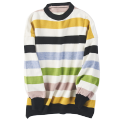 sweater Spring 2021 Average size 1,2 Long sleeves Socket singleton  Regular other 31% (inclusive) - 50% (inclusive) Crew neck Regular commute routine stripe Straight cylinder Regular wool Keep warm and warm 18-24 years old World works