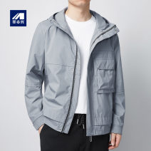 Jacket M-maicco / Merck Fashion City Black, gray 175/L,180/XL,170/M,180/XXL,190/XXXL routine standard Other leisure spring Long sleeves Wear out No collar youth routine Zipper placket 2021 other No process Regular sleeve Chemical fiber blend Save pocket other