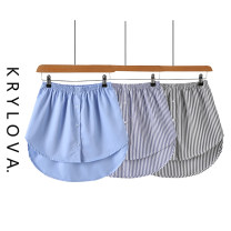 skirt Summer of 2019 S,M,L,XL Middle-skirt Versatile Natural waist Irregular stripe Type A 18-24 years old 71% (inclusive) - 80% (inclusive) other nylon