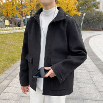 woolen coat Black, Khaki M,L,XL,2XL Mr. Sen Youth fashion Other 100% routine Other leisure easy youth Lapel tide Solid color winter Side seam pocket No iron treatment