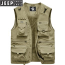 Vest / vest Fashion City Jeep / Jeep M. L, XL, 2XL, 3XL, 4XL (195-210kg), 5XL (210-230kg), 6xl (230-255kg) Khaki, dark blue, army green, grey, jujube Travel? easy Vest thin spring No collar 2020 Military brigade of tooling ZB0163 Solid color zipper Cloth hem Polyester 100% Multiple pockets