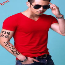 T-shirt Youth fashion routine Baiye Short sleeve V-neck Self cultivation daily spring Cotton 95% polyurethane elastic fiber (spandex) 5% youth routine tide Cotton wool 2016 Solid color other cotton other No iron treatment Fashion brand More than 95%