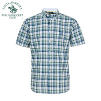 shirt Business gentleman SANTA BARBARA POLO & racket club / St. Paul 38 39 40 41 42 43 44 routine Button collar Short sleeve easy Other leisure youth Business Casual lattice Summer of 2018