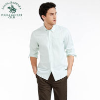 shirt Business gentleman SANTA BARBARA POLO & racket club / St. Paul 38/155 39/160 40/165 41/170 42/175 43/180 44/185 S3 K2 routine Pointed collar (regular) Long sleeves standard Other leisure PS15WH006 youth Cotton 100% Business Casual Winter 2017